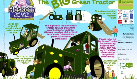 Big Green Tractor for Hesketh Farm Park | Playscheme