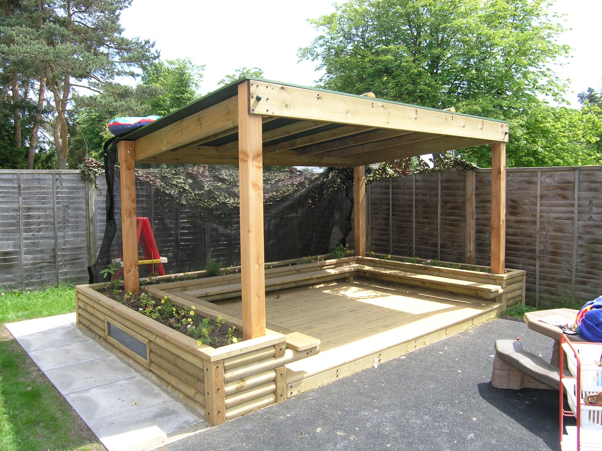Small Pergola With Roof