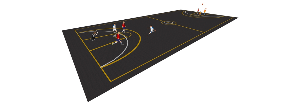 MS004 - Multi-Court Markings - thermoplastic playground markings