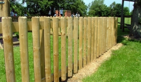 FS002 - Timber Fencing 1.2m (h) 2
