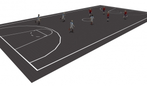 MS003 - Basketball Court Markings - thermoplastic playground markings